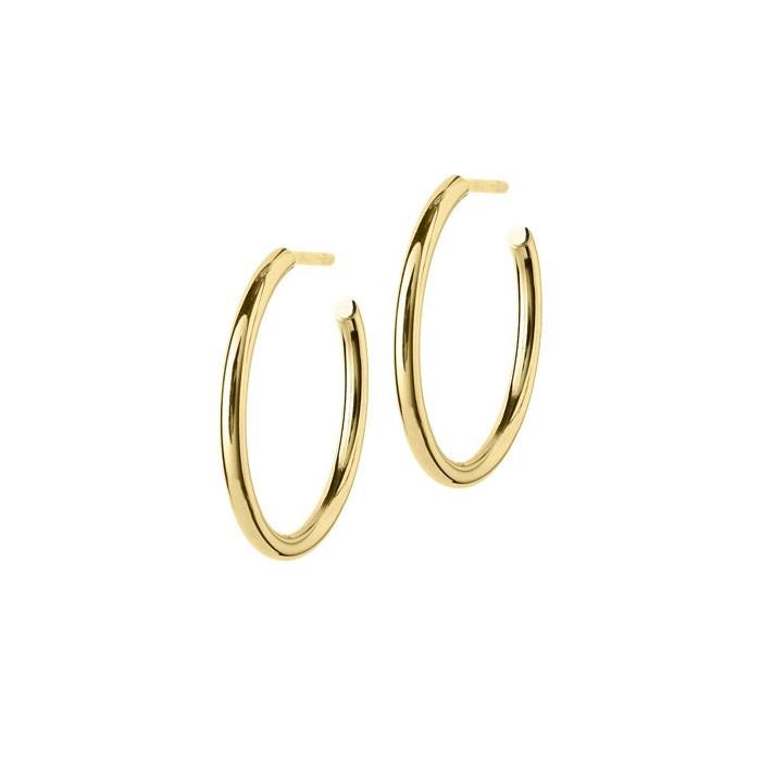 c7a77e5e413 Edblad hoops medium - klassiske gull kreoler | Nettbutikk - Jewelbox.no