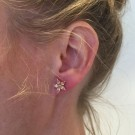 Sparkling flower earrings champagne thumbnail