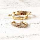 Monaco earrings small gold thumbnail
