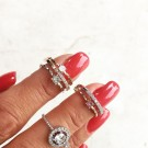 Kennedy ring rose gold/crystal thumbnail