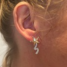 Shooting star earrings champagne thumbnail