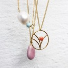 Tree necklace gold/peach thumbnail