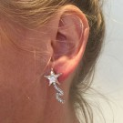 Shooting star earrings clear thumbnail