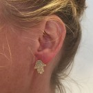 Hamsa hand earrings rose gold edition thumbnail