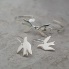 Birdy earrings silver thumbnail