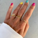 Portofino twisted ring pink/gold thumbnail