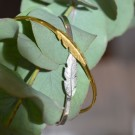 Feather bangle silver thumbnail