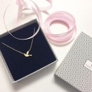 Dove necklace small gold thumbnail