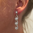 Crystal teardrop earrings thumbnail
