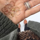 Star rose gold plated earring thumbnail