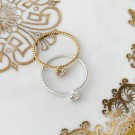 Portofino twisted ring clear/gold thumbnail