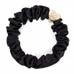 Sort silke scrunchie