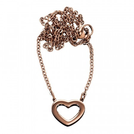 Monaco heart Necklace Rose Gold