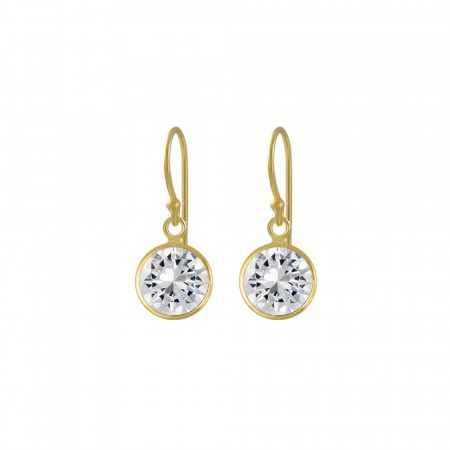 Celine mini drop earrings clear/gold