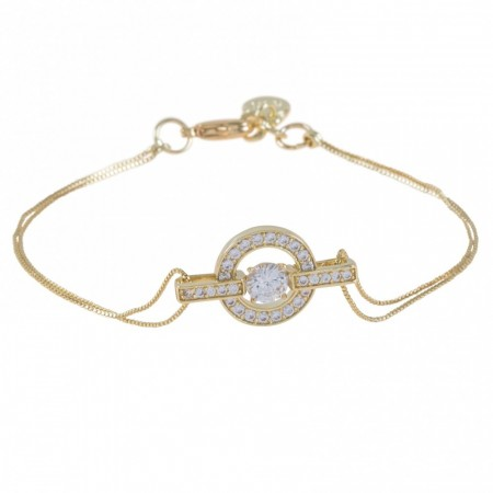 Elaine Chain Bracelet Gold/Clear