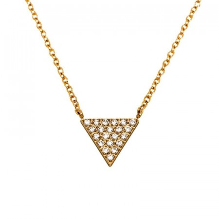 Mountain Necklace Short Gold