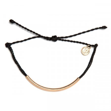 Pura Vida armbånd Gold bar black