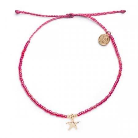 Pura Vida Armbånd Gold 3D Bitty Charm Starfish Rose