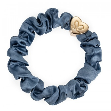 byEloise Faded denim silke scrunchie