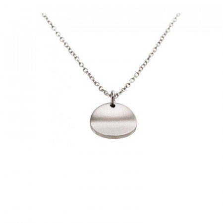 Concave Necklace Short Matt Steel