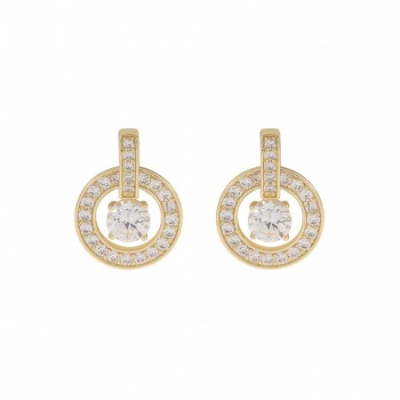 Elaine ear gold/clear