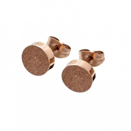 Dottie studs glittering rose gold