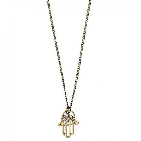 PILGRIM Felicity hamsa hand gold plated necklace