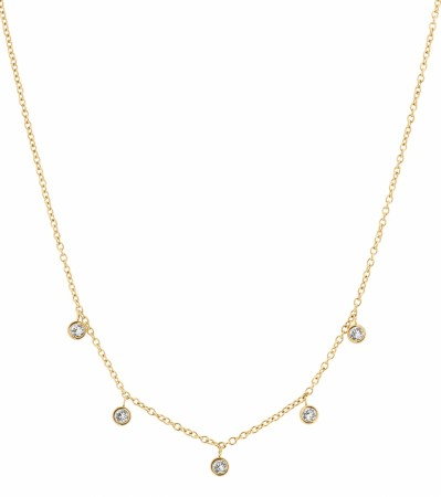 Edblad Dew drop necklace multi gold