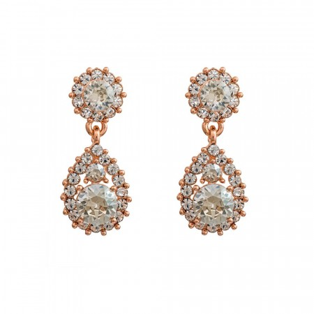 Sofia earrings crystal/rose gold