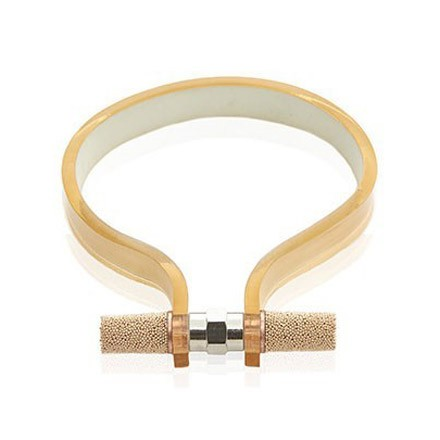 Nut cuff mirror gold 1 cm