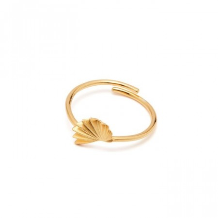 Origami ring gold