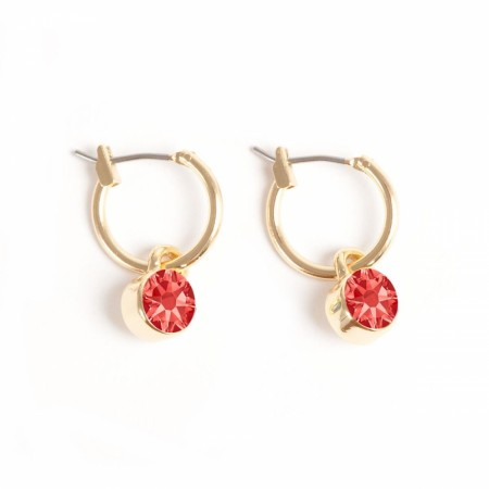 A&C Swarovski creole earring padparadscha