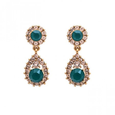 Sofia earrings royal green