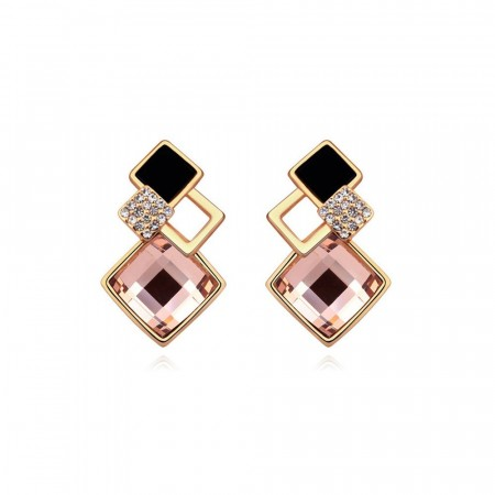Memory lane vintage pink earrings