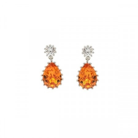 Droplet earrings Tangerine