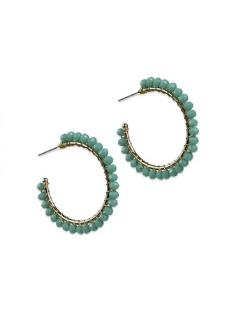 Mary small hoop turquoise