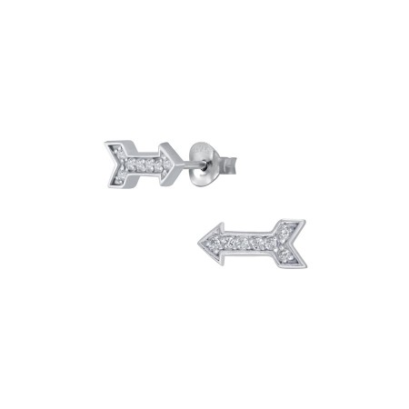 Rebecka Mini arrow earrings silver/clear