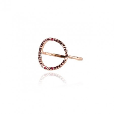 COOEE Circle Ring Rose Gold Plated 18k