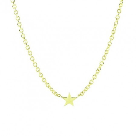Star gold plated necklace