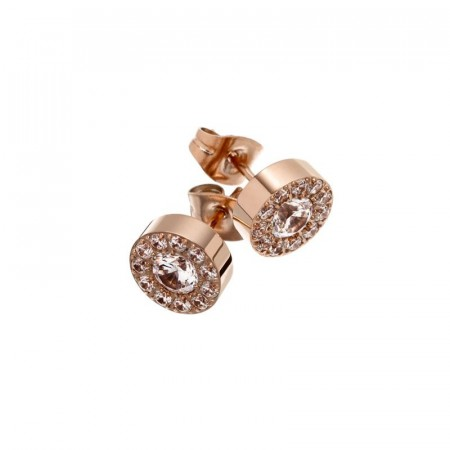 Thassos studs rose gold
