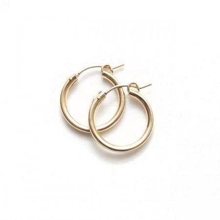 Gold hoops medium size