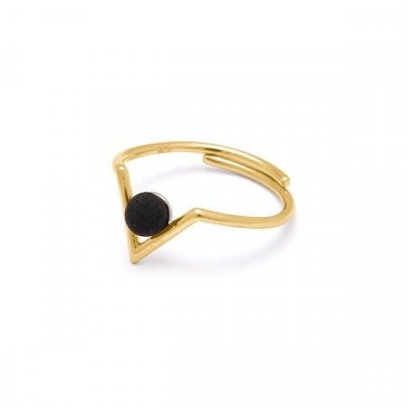Inbetween ring matt black