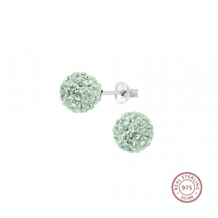 Claudia crystal ball earrings chrysolite