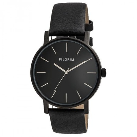 PILGRIM Unisex Watch Black With Silver Details