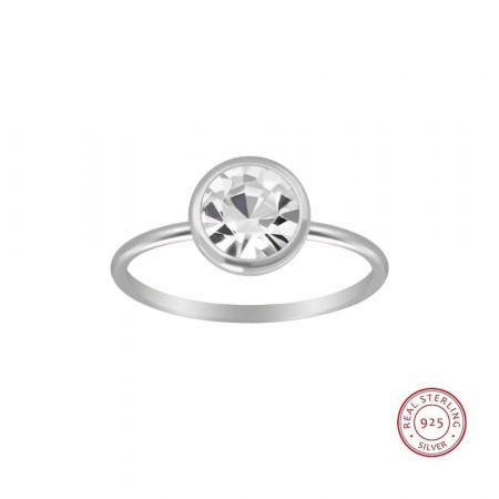 Sterling silver Icon solitaire ring