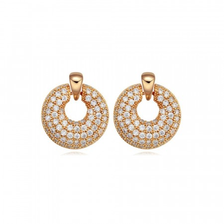 Fancy pancy gold earrings