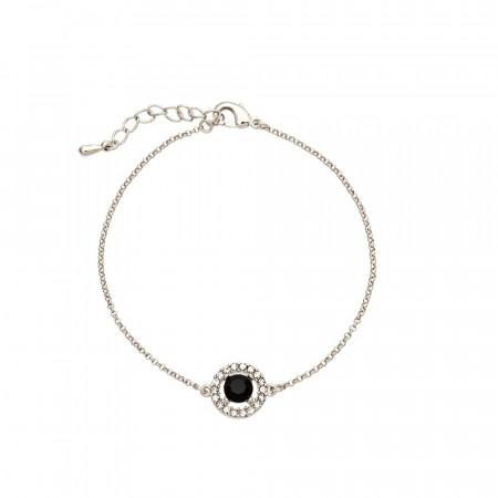 38447e8ae3cb3 Miss Miranda bracelet jet/silver