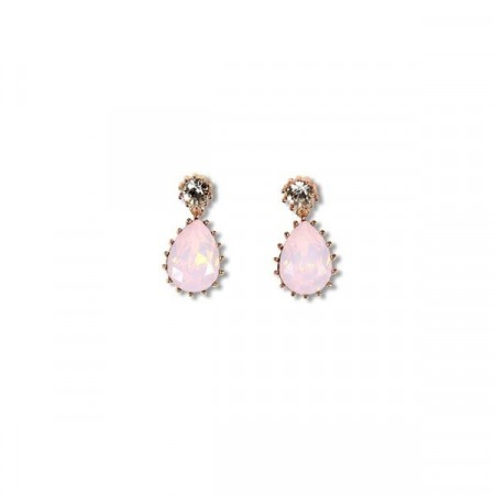 Droplet earring rose water opal