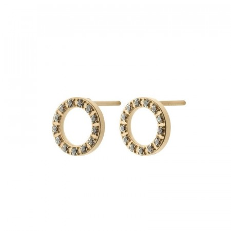 Glow studs mini matt gold