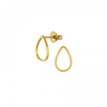 Aqua teardrop earring gold